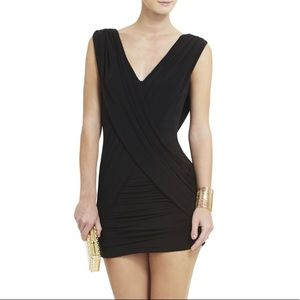 NEW BCBGMaxAzria Alondra Gathered Cocktail Dress